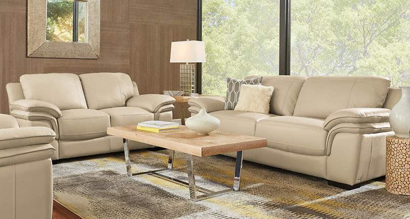 Cindy Crawford Home Grand Palazzo Beige Leather