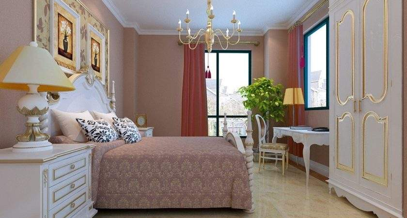 Classic Rendering Neoclassical Bedroom Furniture Sets