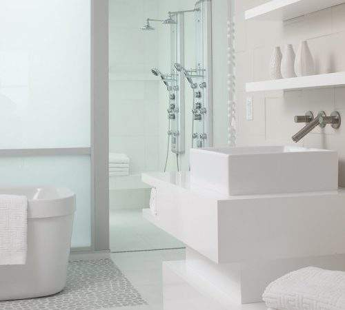 Clean Design White Bathroom Ideas Decorating Room
