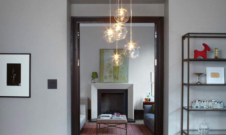Clear Glass Pendant Light Living Room Contemporary