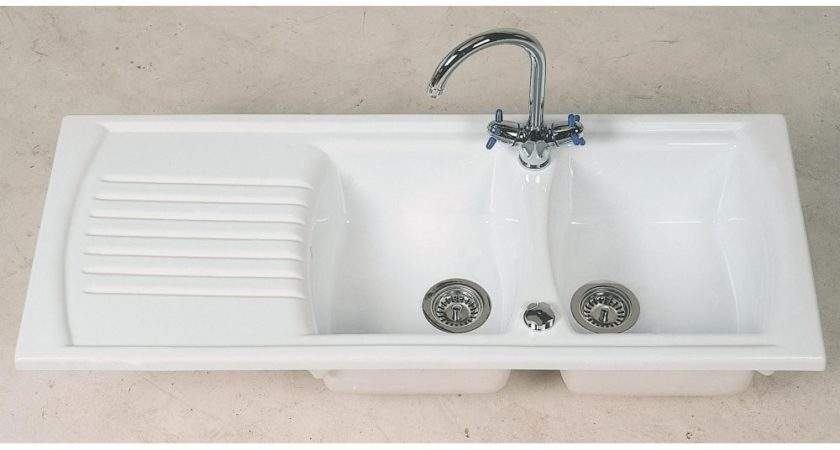 Clearwater Sonnet Double Bowl Drainer White Ceramic