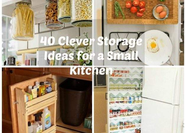 Clever Storage Ideas Small Kitchen