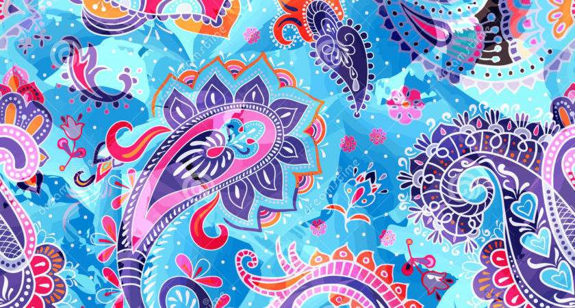 Colorful Paisley Pattern Vector