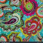 Colorful Paisley Seamless Pattern Blue Pink Vector