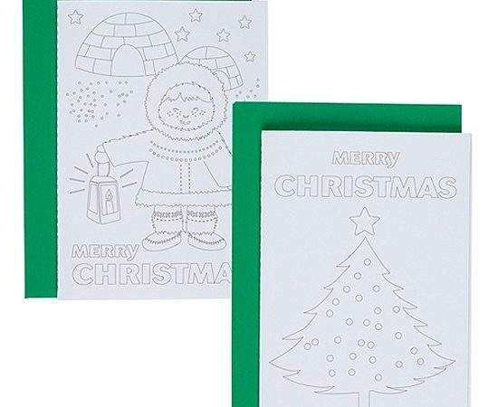Colour Your Own Christmas Cards Kit John Lewis