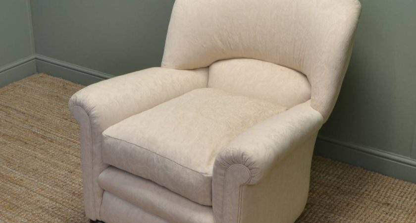 Comfortable Edwardian Upholstered Arm Chair Antiques World