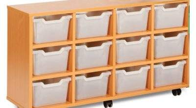 Compact Cubby Hole Tray Unit Early Years