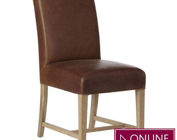 Conference Dining Chair Aged Leather Oka