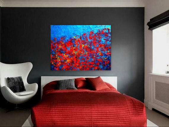Contemporary Abstract Painting Modern Spaces Autumn