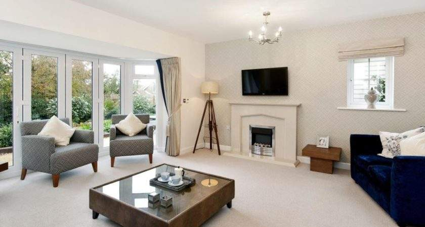 Contemporary Light Beige White Living Room Lounge French