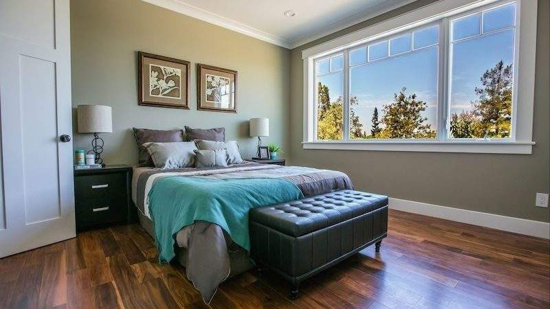 Contemporary Master Bedroom High Ceiling Crown