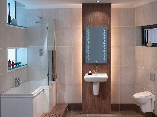 Contemporary Small Bathroom Modern Suite