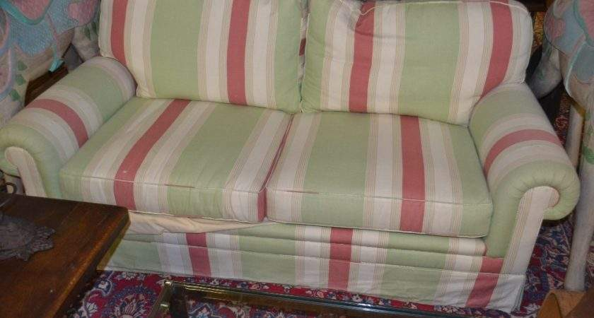 Contemporary Sofa Bed Upholstered Stripe Fabric
