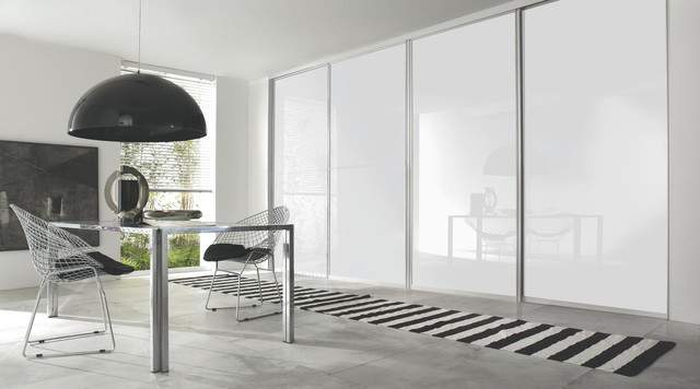 Contemporary White Gloss Sliding Wardrobe Doors