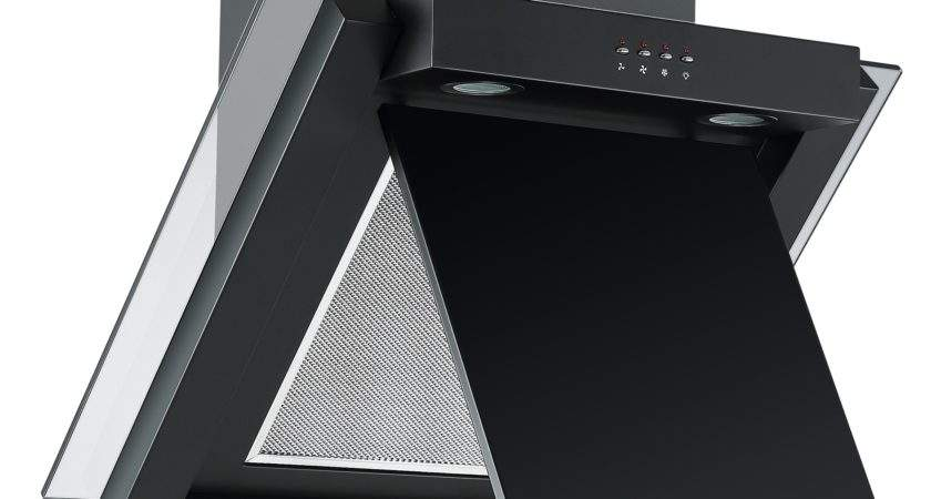 Cookology Ang Angled Glass Kitchen Extractor