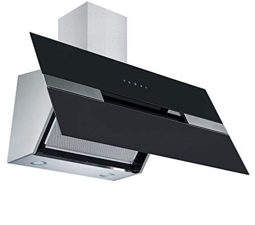 Cookology Elite Black Angled Glass Extractor Fan