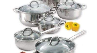Cookware Set Piece Stainless Steel Electric Gas Glass