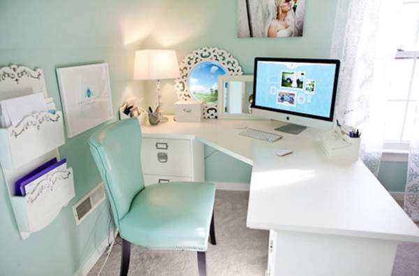 Cool Blue Office Room Ideas