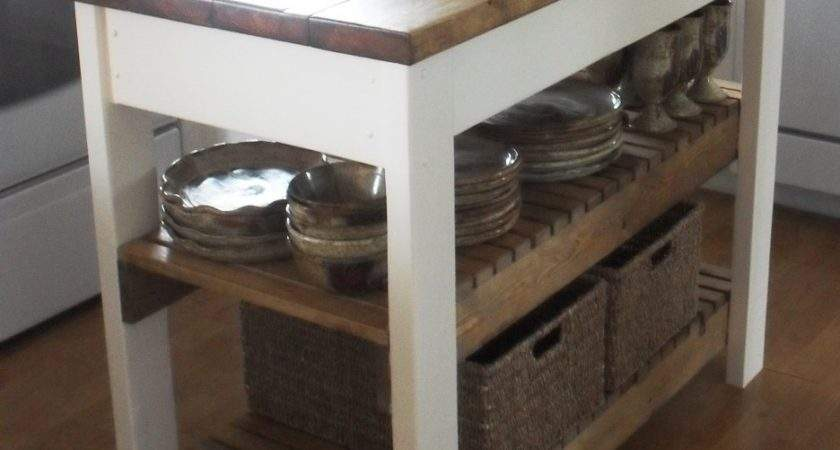 Cool Brown White Movable Kitchen Islands Storage