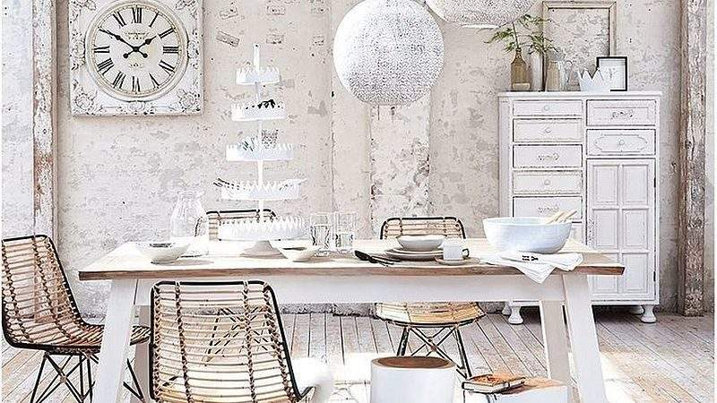 Cool Creative Shabby Chic Dining Rooms