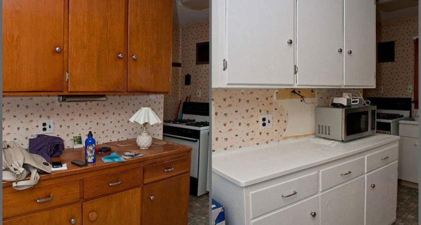 Cool Painting Old Kitchen Cabinets Ideas