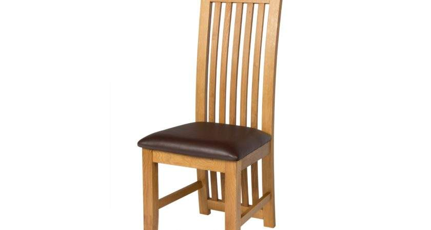 Cotswold Brown Leather Solid Oak Dining Chair
