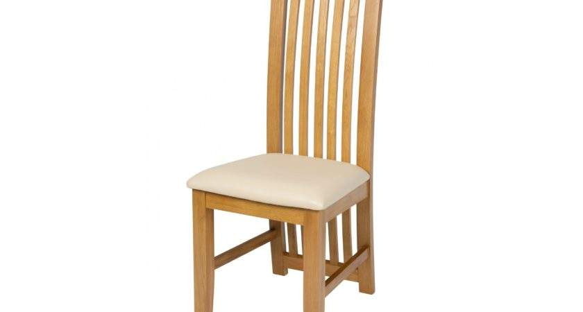 Cotswold Cream Leather Solid Oak Dining Chair