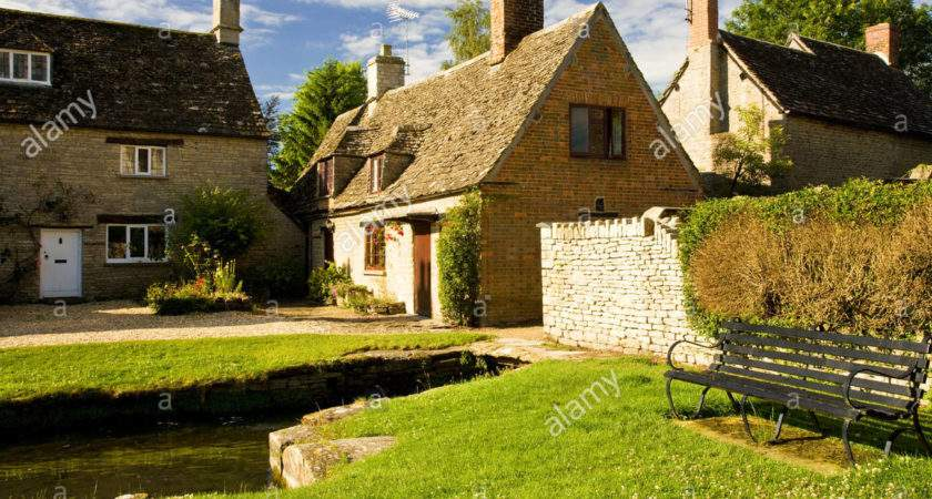 Cotswold Stone Country Village Houses Millstream