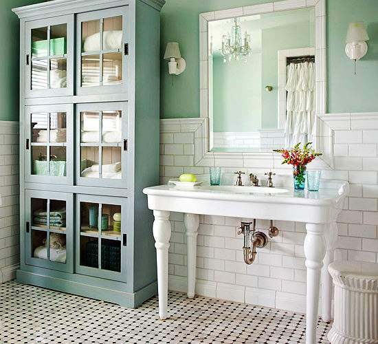 Cottage Style Bathrooms Blog Makeover Inspired Room