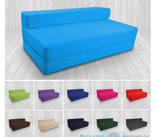 Cotton Twill Bed Double Fold Out Chairbed Chair
