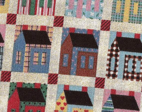 Country Cottage Print Cotton Fabric Yards