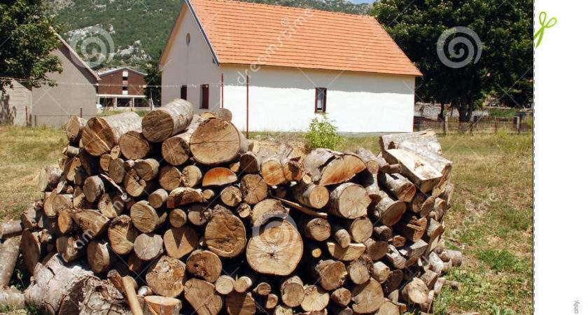 Country House Pile Firewood