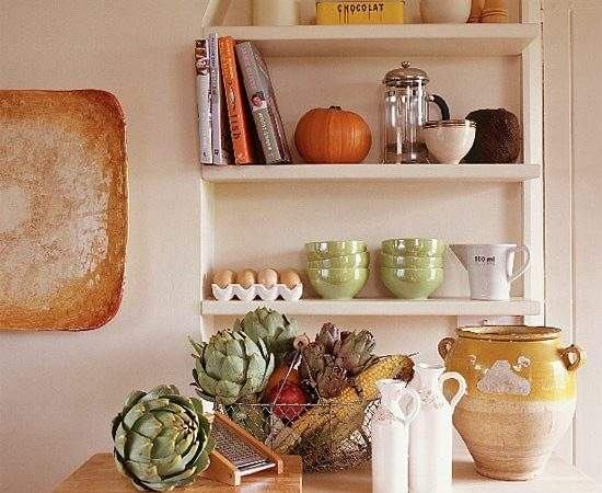 Country Kitchen Shelves Design Decorating