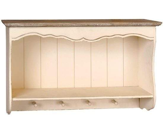 Country Wall Shelf Feather Black Kitchen Shelving