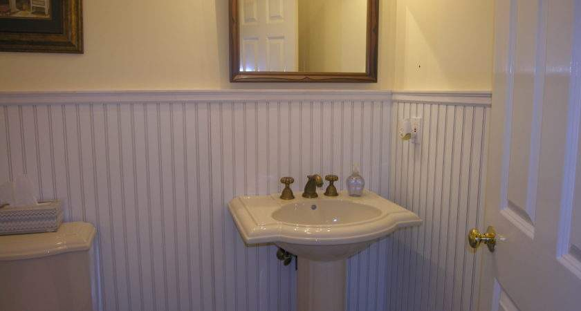 Cover Bathroom Tile Wainscoting Room Design