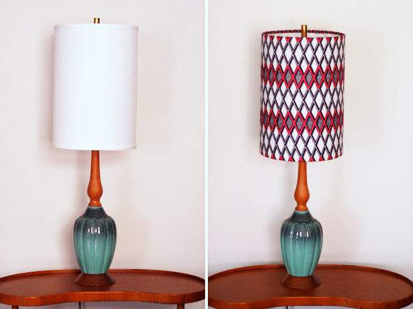 Cover Lampshades Fabric Orange
