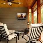 Covered Porch Entertainment Area Rustic