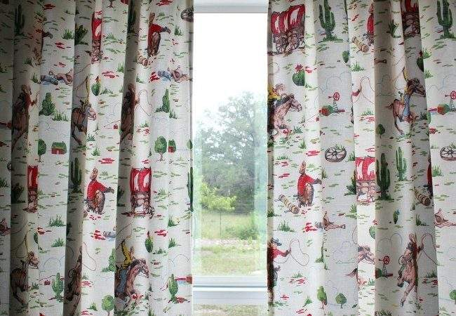 Cowboy Bedding Make Lined Curtains Domestic