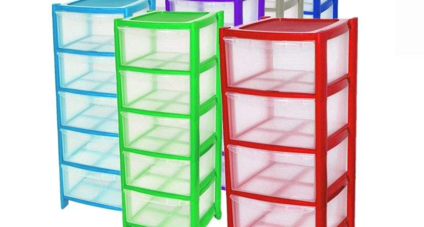Crazygadget Plastic Large Tower Storage Drawers Chest