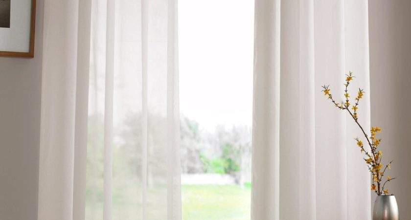 Cream Eyelet Ring Top Voile Curtain Panel Voiles