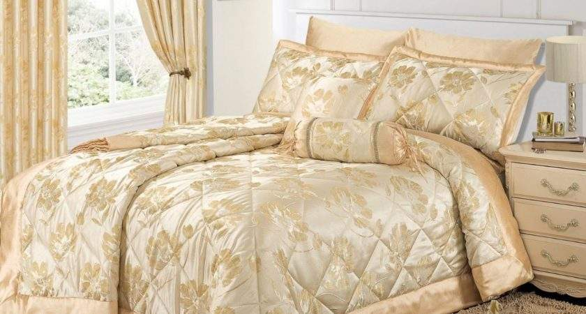 Cream Gold Colour Stylish Floral Jacquard Luxury