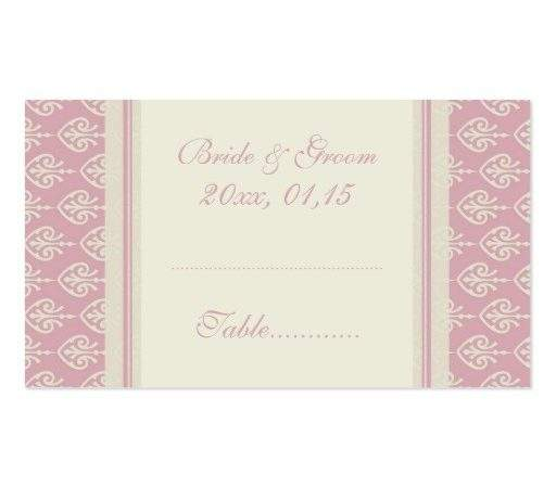 Cream Wedding Table Place Setting Cards Business Card