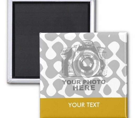 Create Your Own Square Magnet Horizontal Zazzle