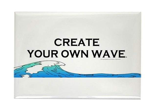 Create Your Own Wave Rectangle Magnet Limitlesspos