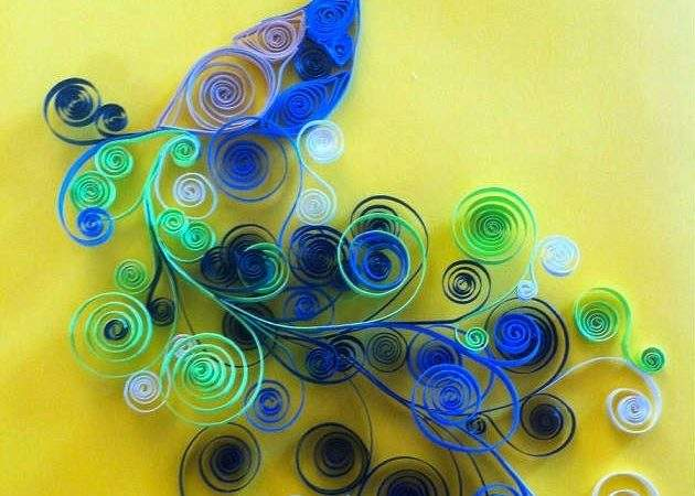 Creative Quilled Peacock Art Greeting Cards Paper Crafts