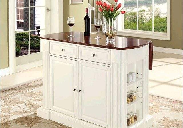 Crosley Coventry Kitchen Island Breakfast Bar White