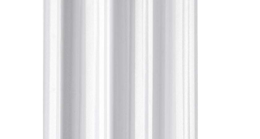 Croydex White Regency Stripe Hookless Textile Shower