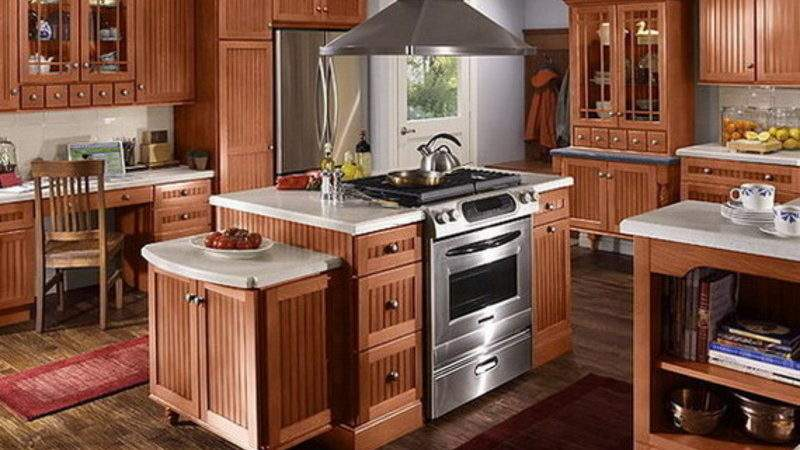 Cuisine Ricaine Cabinet American Style Kitchen