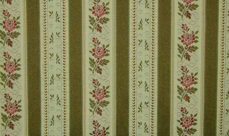 Curtain Fabric Upholstery Regency Stripe Olive