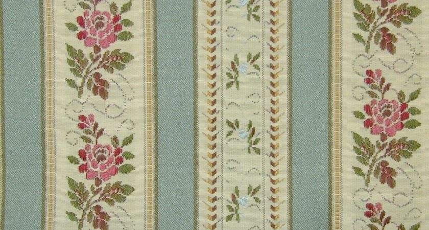 Curtain Fabric Upholstery Regency Stripe Teal Metre